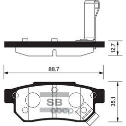 КОЛОДКИ ТОРМОЗНЫЕ ЗАДНИЕ (Sangsin brake) SP1265