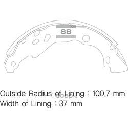 КОЛОДКИ ТОРМОЗНЫЕ ЗАДНИЕ (Sangsin brake) SA177