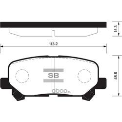 КОЛОДКИ ТОРМОЗНЫЕ ЗАДНИЕ (Sangsin brake) SP1461