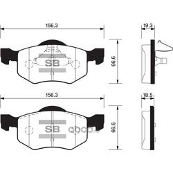 Колодки тормозные передние (Abs) 37255