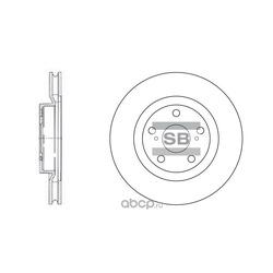 Диск тормозной передний (Sangsin brake) SD4021