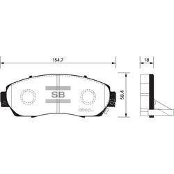 КОЛОДКИ ТОРМОЗНЫЕ ПЕРЕДНИЕ (Sangsin brake) SP2115