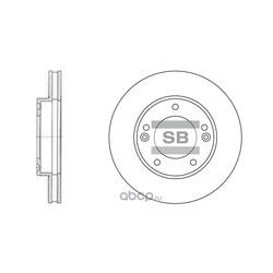 ДИСК ТОРМОЗНОЙ (Sangsin brake) SD2026