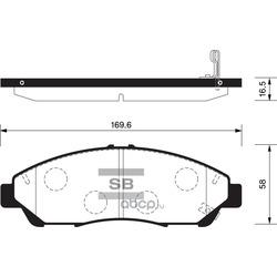 КОЛОДКИ ТОРМОЗНЫЕ ПЕРЕДНИЕ (Sangsin brake) SP1452