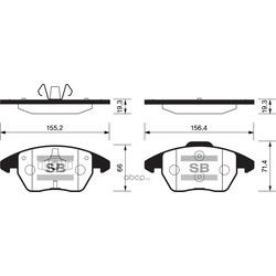 Колодки тормозные передние (Sangsin brake) SP2098