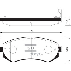 КОЛОДКИ ТОРМОЗНЫЕ ПЕРЕДНИЕ (Sangsin brake) SP1492