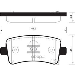 КОЛОДКИ ТОРМОЗНЫЕ ЗАДНИЕ (Sangsin brake) SP2135