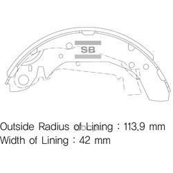 Колодки тормозные задние (Sangsin brake) SA111