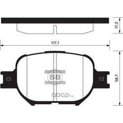 SANGSIN Колодки тормозные передние (Sangsin brake) SP1272