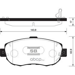 КОЛОДКИ ТОРМОЗНЫЕ ПЕРЕДНИЕ (Sangsin brake) SP1386