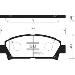 КОЛОДКИ ТОРМОЗНЫЕ ПЕРЕДНИЕ (Sangsin brake) SP1466
