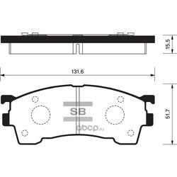 КОЛОДКИ ТОРМОЗНЫЕ ПЕРЕДНИЕ (Sangsin brake) SP2018