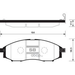 КОЛОДКИ ТОРМОЗНЫЕ ПЕРЕДНИЕ (Sangsin brake) SP2078