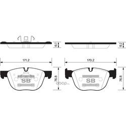 Колодки тормозные (Sangsin brake) SP2172