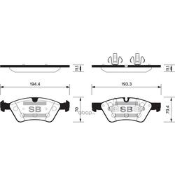 Колодки тоpм. MB ML/R W164/W251 пеpед.к- (Sangsin brake) SP2189