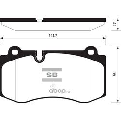 Колодки тормозные передние (Sangsin brake) SP2195