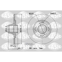 Тормозной диск (Sasic) 6104012