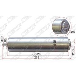 Фильтр топливный BMW 3-SERIES E90 05-/X1 E84 09-/X3 F25 10- (Sat) ST13327823413