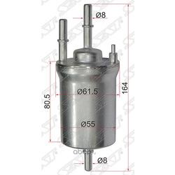 Фильтр топливный AUDI A1 10-/SKODA OCTAVIA 04-/VOLKSWAGEN PASSAT 05- (Sat) ST1K0201051K
