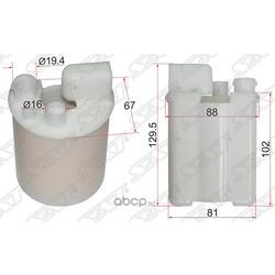 Фильтр топливный погружной HYUNDAI ELANTRA 06-11/I30 07-10/KIA CERATO 09- (Sat) ST319102H000