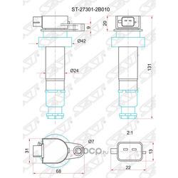 Катушка зажигания (Sat) ST273012B010