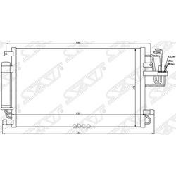 Радиатор кондиционера HYUNDAI TUCSON 04-09/KIA SPORTAGE 04-09 (Sat) STHN503940