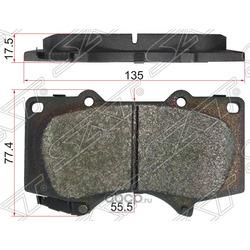 Колодки тормозные FR LEXUS GX470/460,TOYOTA LAND CRUISER PRADO 120/150 02- (Sat) ST0446560210