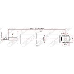 Амортизатор задний FORD FOCUS II/C-MAX 04- LH=RH (Sat) ST1234195