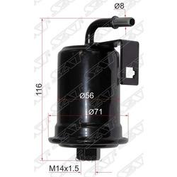 Фильтр топливный TOYOTA LAND CRUISER 100 2UZ 98-07/LEXUS LX470 2UZ 98- (Sat) ST2330050090