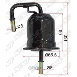 Фильтр топливный TOYOTA LAND CRUISER 200 2UZFE 07- (Sat) ST2330050140