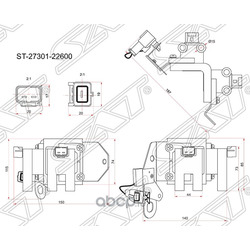 Катушка зажигания HYUNDAI GETZ 02-/ACCENT 99- (Sat) ST2730122600