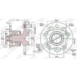 Ступица RR CAMRY, CAMRY GRACIA #V20/SCEPTER/VISTA/HARRIER 2WD 92-03 с ABS (Sat) ST4245033010