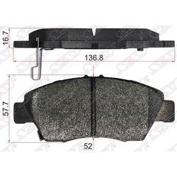Колодки тормозные FR HONDA CIVIC EU/ES 01-06 EK1/3/4 EJ9 95-01 FIT GD# 02-08 (Sat) ST45022S04V00
