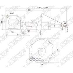 Стойка передняя TOYOTA AVENSIS 03-08 LH (Sat) ST4852009A70