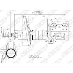 Стойка передняя TOYOTA CARINA/CALDINA/CORONA 92-02 LH (Sat) ST4852029205