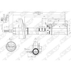 Стойка задняя TOYOTA CARINA/CALDINA/CORONA 92-02 Special Edition RH (Sat) ST485302B310SE