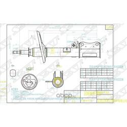 Стойка задняя TOYOTA HARRIER/LEXUS 97-03 2WD RH (Sat) ST4853049115