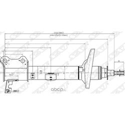 Стойка задняя TOYOTA CARINA/CALDINA/CORONA 92-02 4WD LH (Sat) ST4854029275