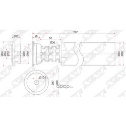 Пыльник RR амортизатора TOYOTA VITZ,PLATZ,IST 98- RH=LH (Sat) ST4875052010