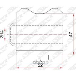Втулка FR стабилизатора TOYOTA AVENSIS ZRT270 08- D-23 RH (Sat) ST4881505160
