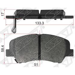 Колодки тормозные FR HYUNDAI SOLARIS 10- (Sat) ST581011RA00
