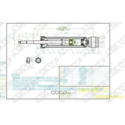 Амортизатор задний RENAULT/DACIA LOGAN 04- LH=RH (Sat) ST8200528607