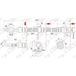 Шланг тормозной FR TOYOTA COROLLA/SPACIO/RUNX/IPSUM/ISIS/MATRIX/NOAH/VOXY/PREMIO/VOLTZ/WILL 00- RH (Sat) ST9094702C47
