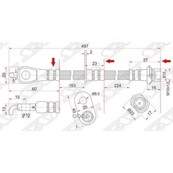 Шланг тормозной FR TOYOTA CAMRY/LEXUS ES240/350 06- LH (Sat) ST9094702F59