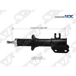 Стойка передняя CHEVROLET/DAEWOO MATIZ/SPARK 98-05 LH (Sat) ST96316745
