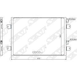 Радиатор кондиционера RENAULT LOGAN 08- (Sat) STDC01394A0
