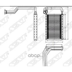 Радиатор отопителя салона HYUNDAI SOLARIS/KIA RIO 10- (Sat) STHNS13950
