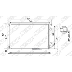 Радиатор кондиционера RENAULT MEGANE II/SCENIC 02-08 (Sat) STRNW23940