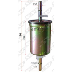 Фильтр топливный FORD FOCUS 99-/MAZDA 3 03-/VOLVO S40 04- (Sat) STZ60520490