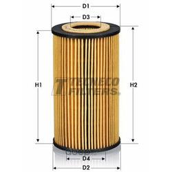 Фильтр масляный (Tecneco) OL0208E